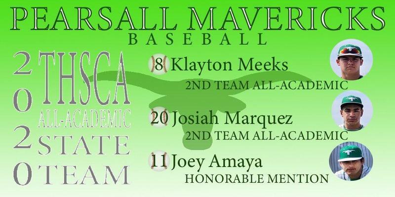 Mavericks Baseball THSCA All-Academic State Team Thumbnail Image