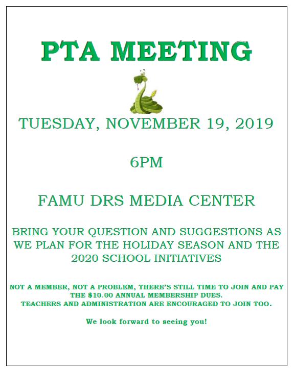 PTA Meeting Flyer