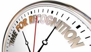 Image with words that say Time for Recognition