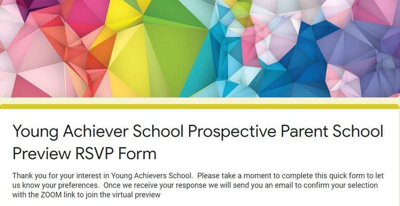 Prospective Parent School Preview RSVP form Featured Photo