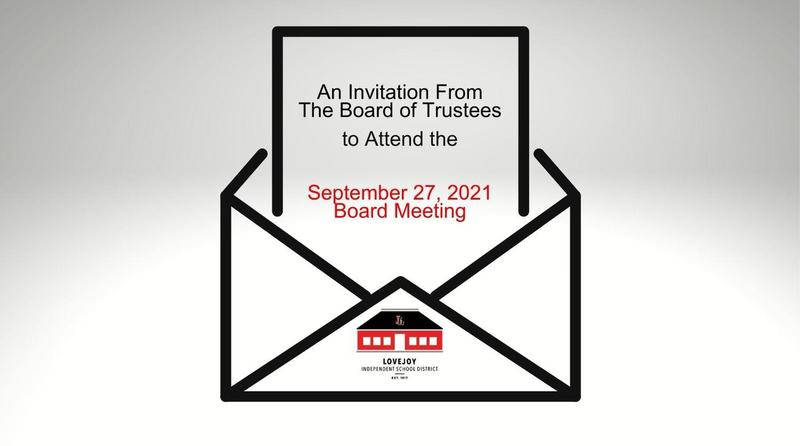 An Invitation from the Board of Trustees Featured Photo