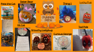 Pumpkin characters collage