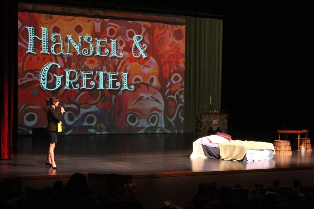 Students at the Hansel and Gretel opera performance field trip