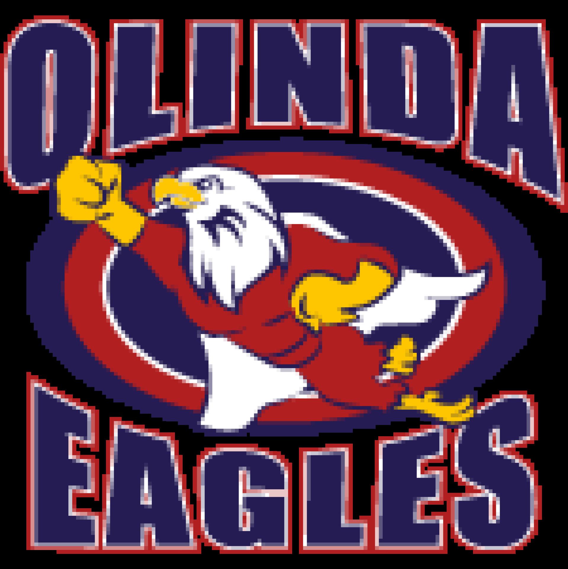 Olinda Elementary sign with eagle flying