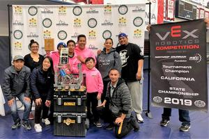 Holland Middle School's robotics team 68689B won the VEX State Championship on March 9, qualifying the team for the VEX World Championship in Kentucky from Wednesday, April 24 through Saturday, April 27.