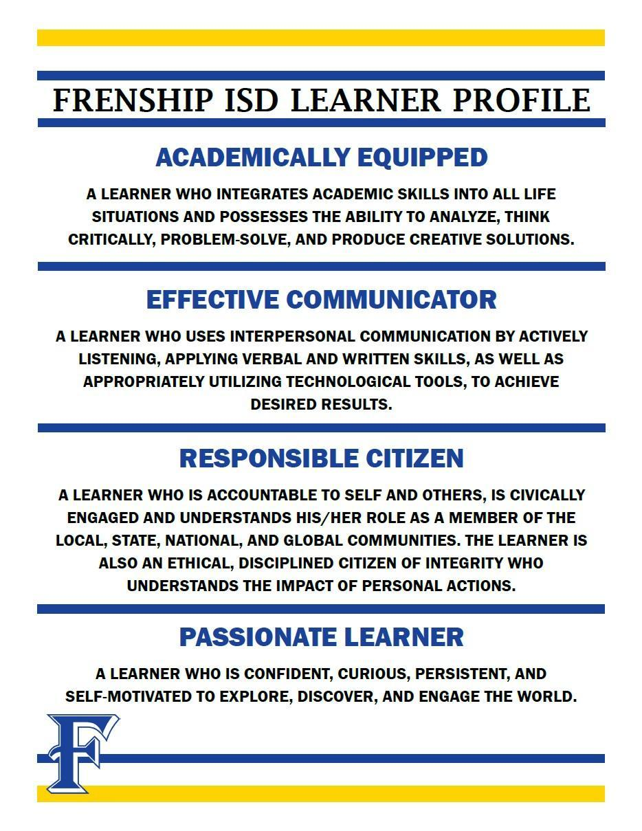 frenship learner profile