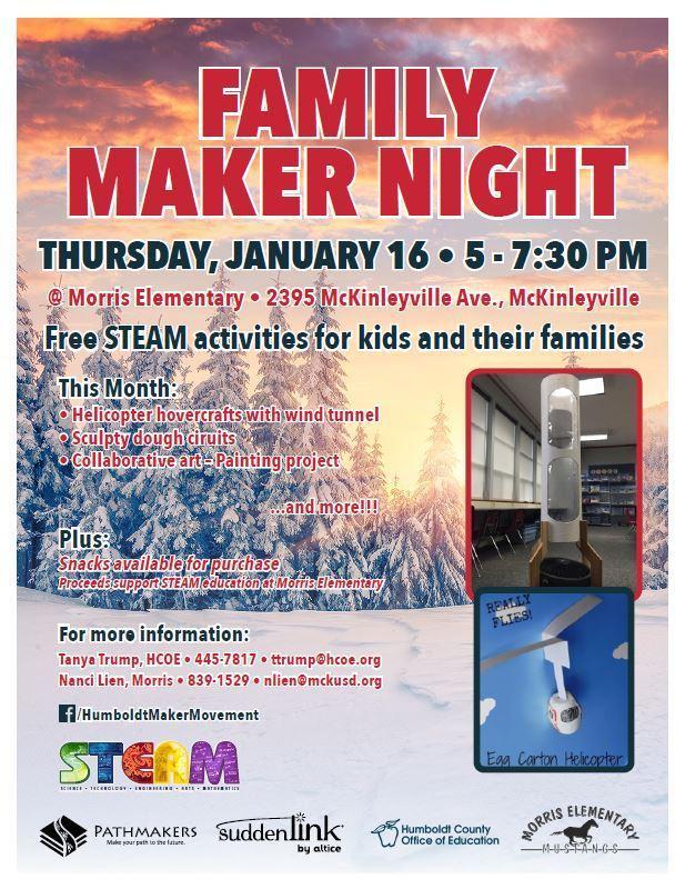 Family Maker Night Flyer