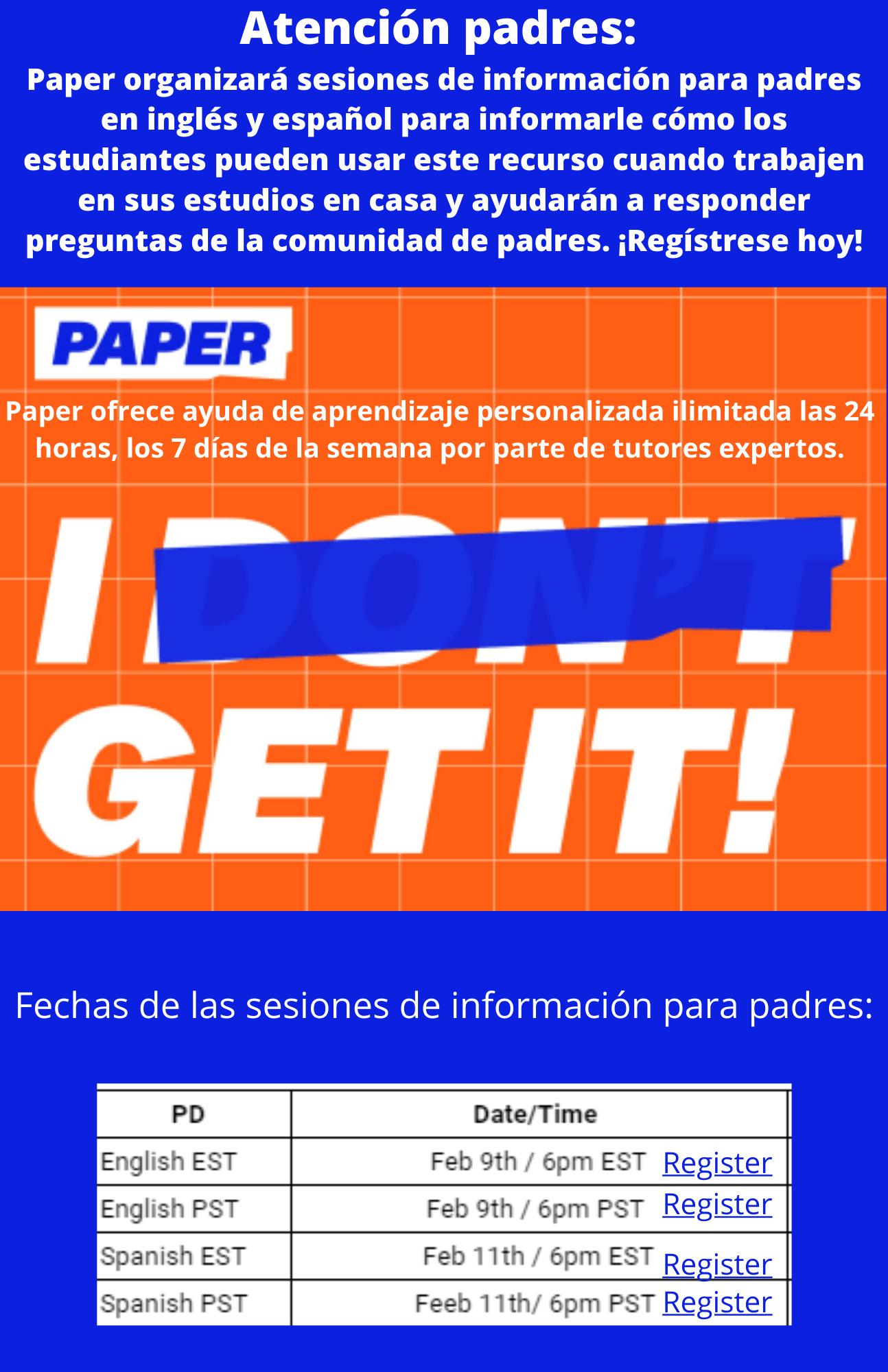 Tutoria de PAPER
