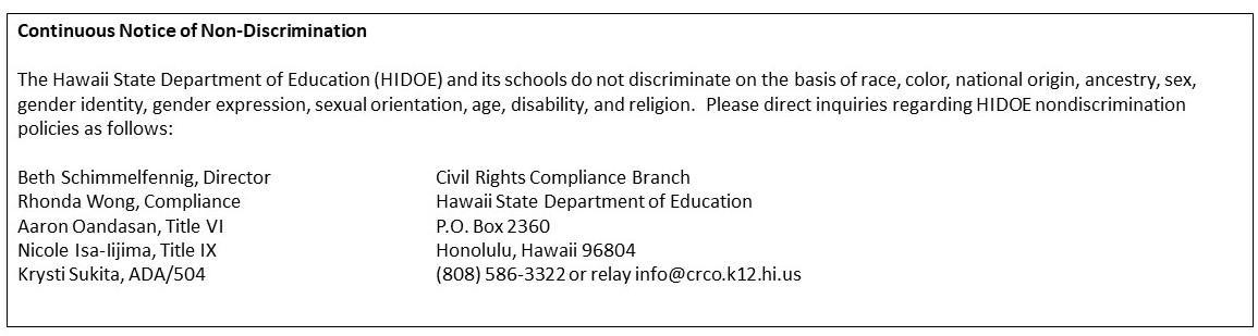 Continuous Notice of Non-Discrimination