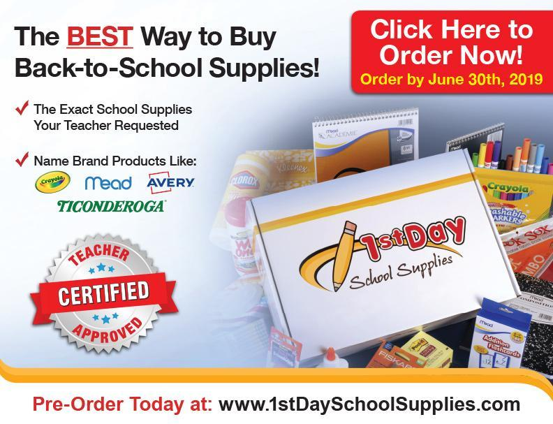 Order 1st Day School Supplies by June 30th! Thumbnail Image