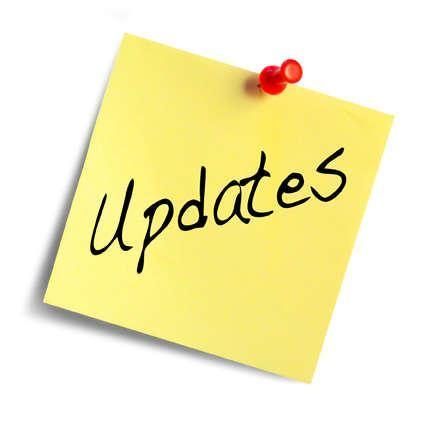Image that reads Updates