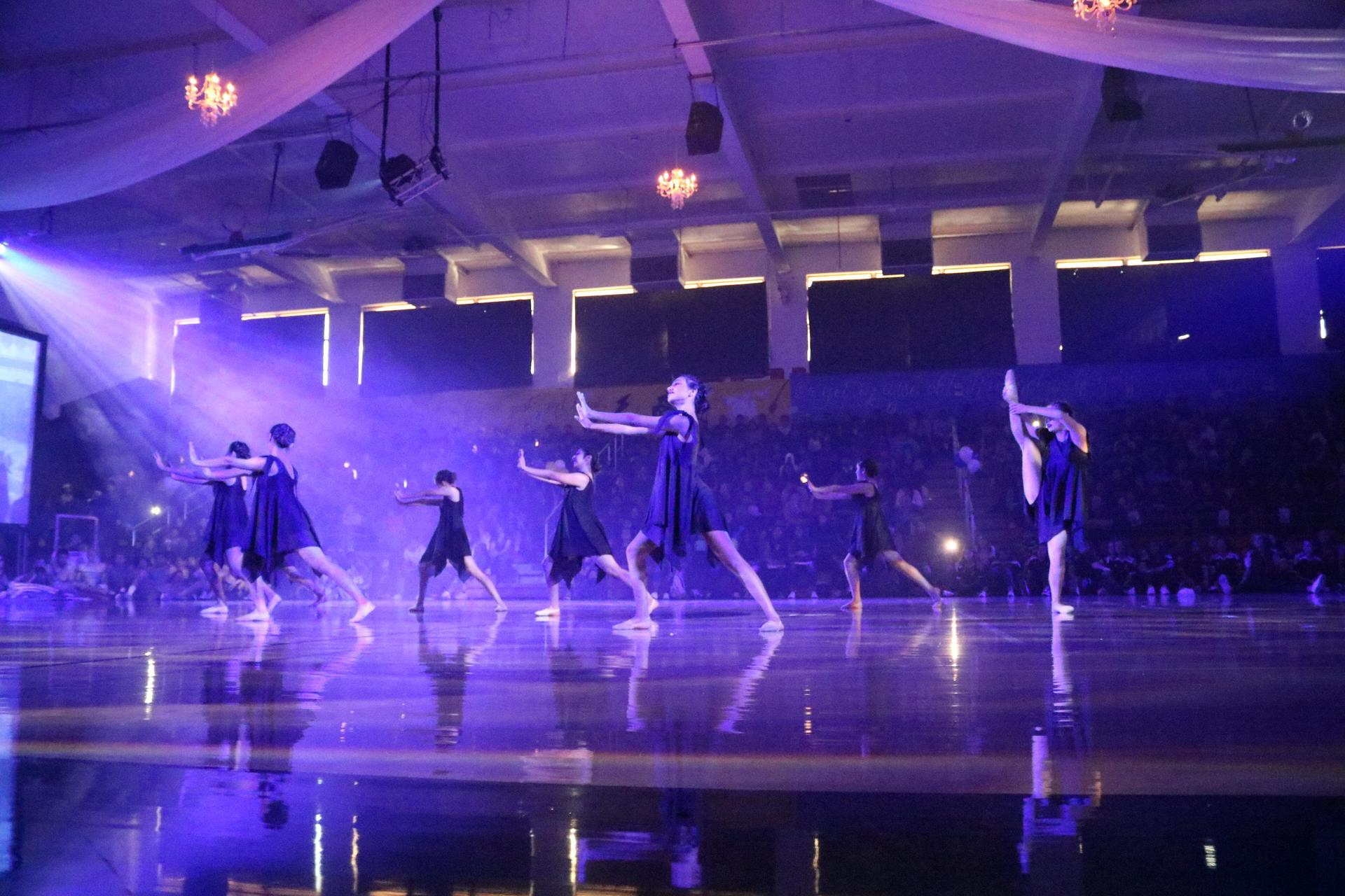 Dance Team at a Pep Assembly