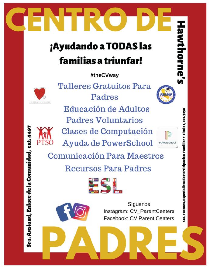 Parent Center Flier Spanish