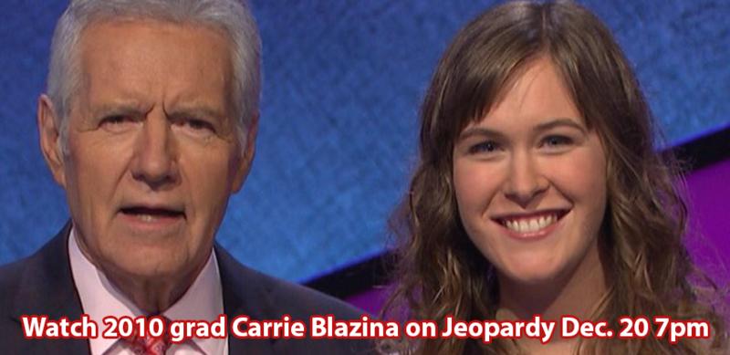 Carrie Blazina on Jeopardy