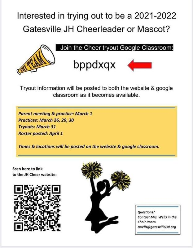 JR. HIGH CHEER TRYOUT INFORMATION! Featured Photo
