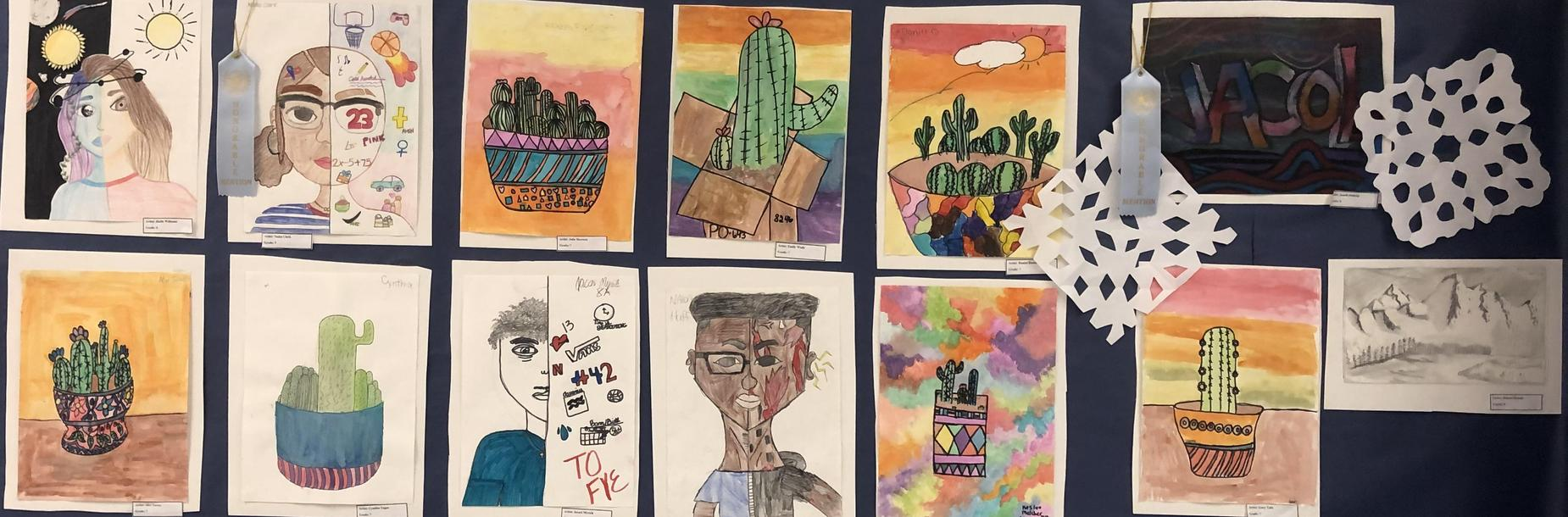 Art on Display during Winter Fine Arts Program