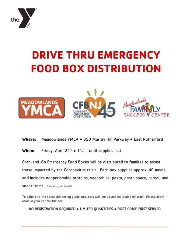 emergency food drive flyer English