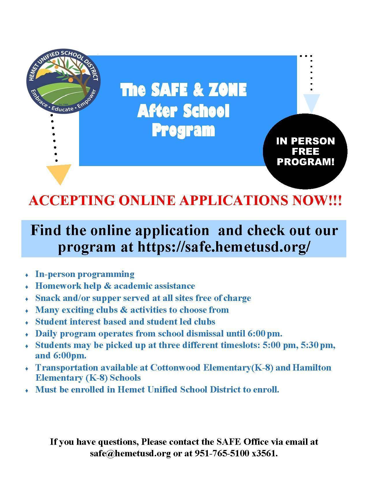 SAFE Enrollment Flyer-Spanish