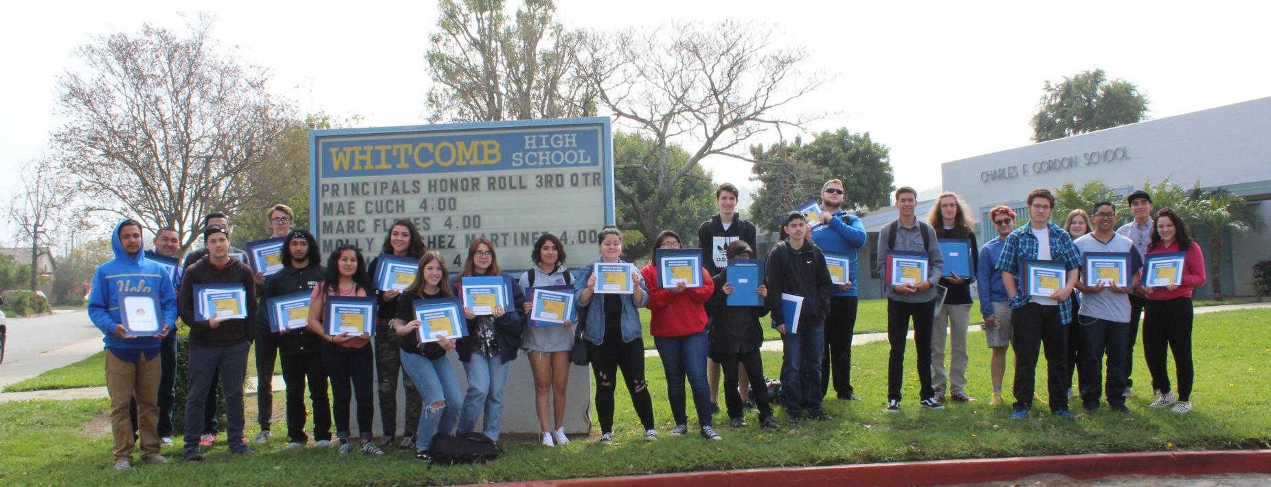 Whitcomb High School Honor Roll