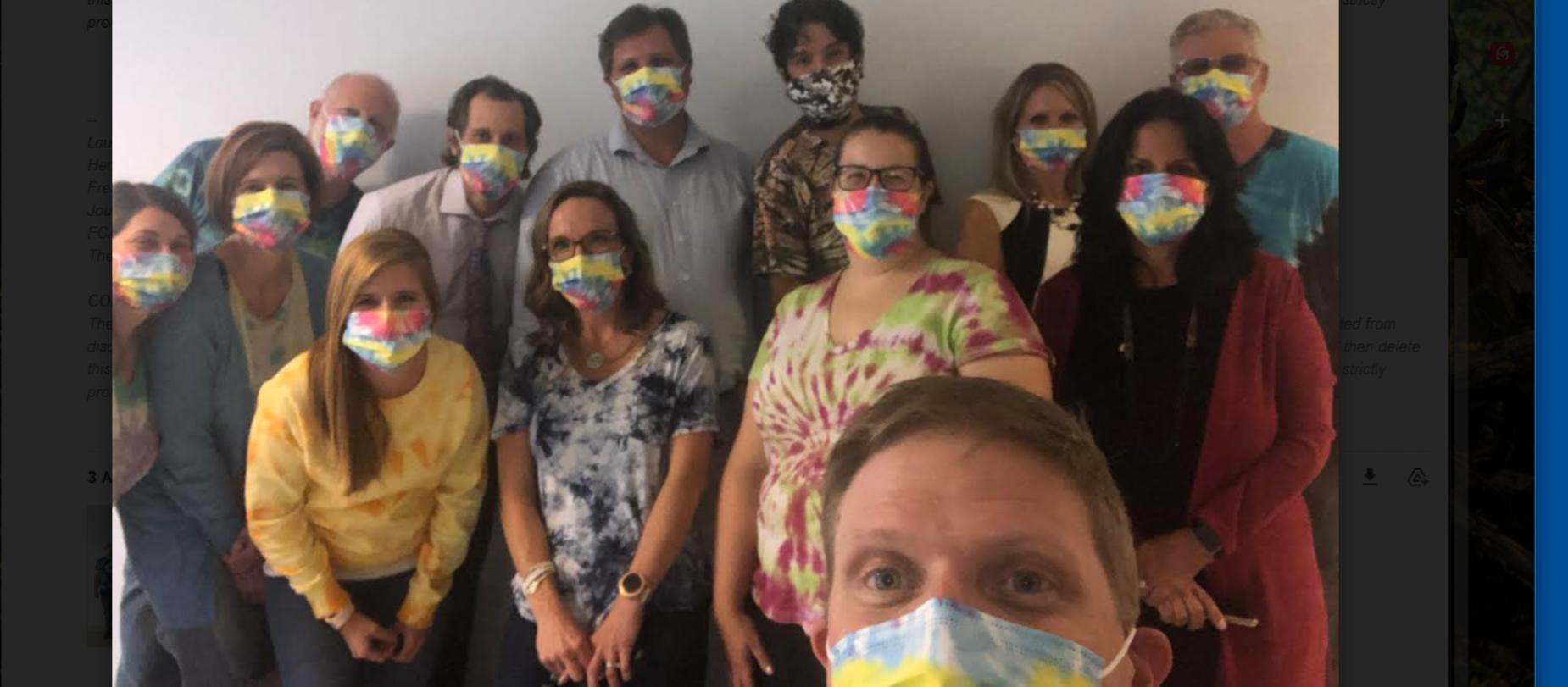 Science Teachers Celebrating Tie Dye Day - 1