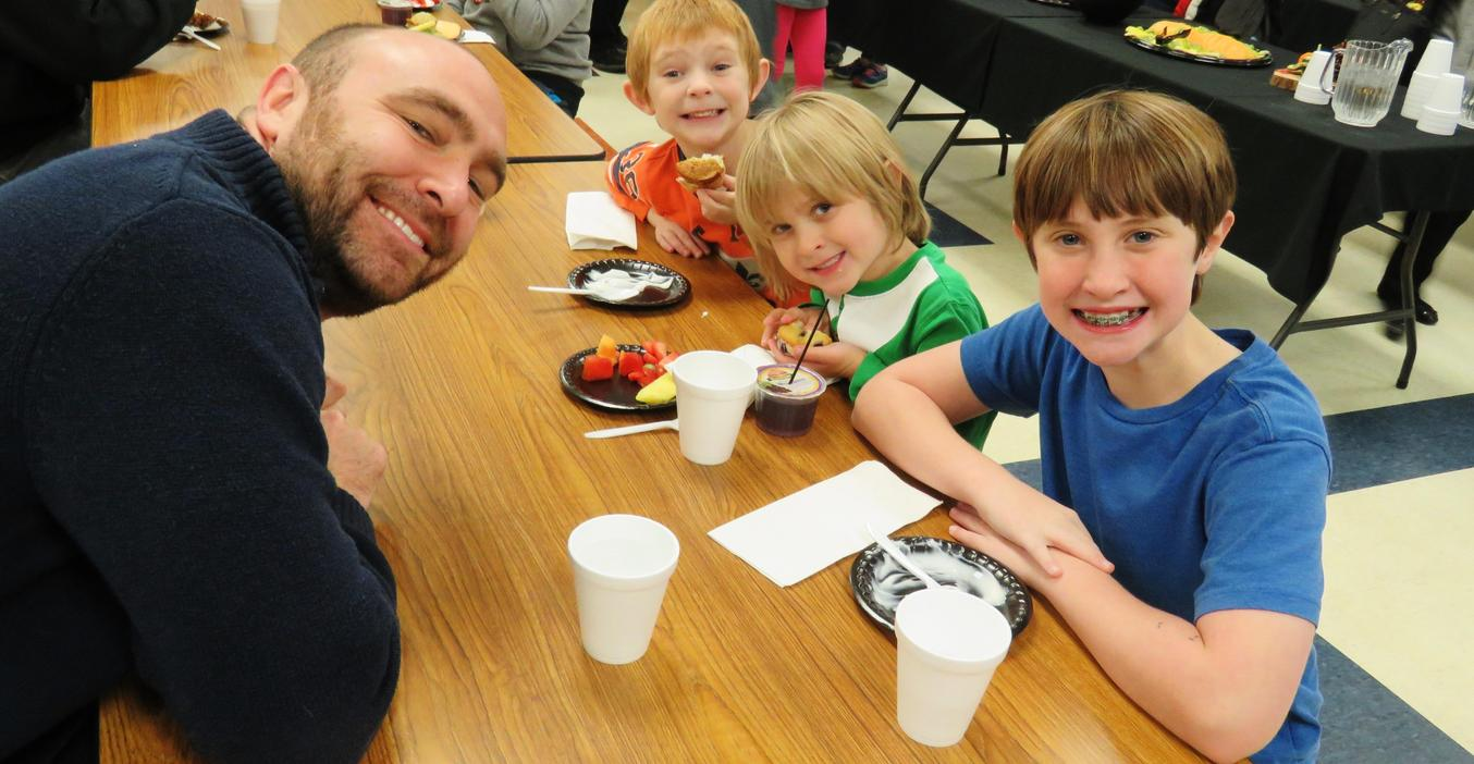 Families enjoy Fruit with Families mornings.