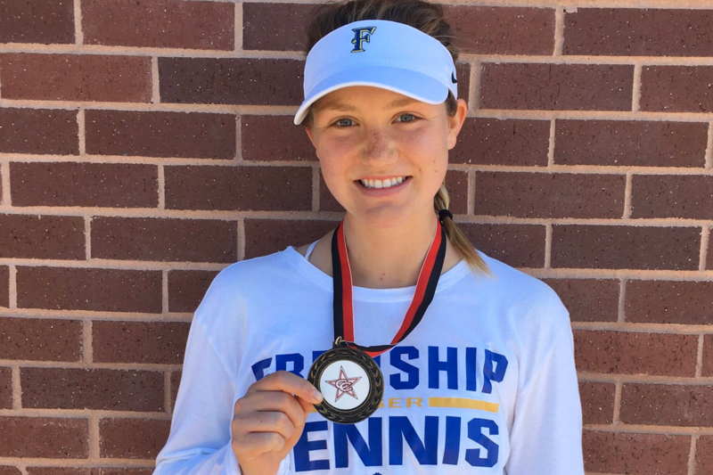 stepp wins gold in singles