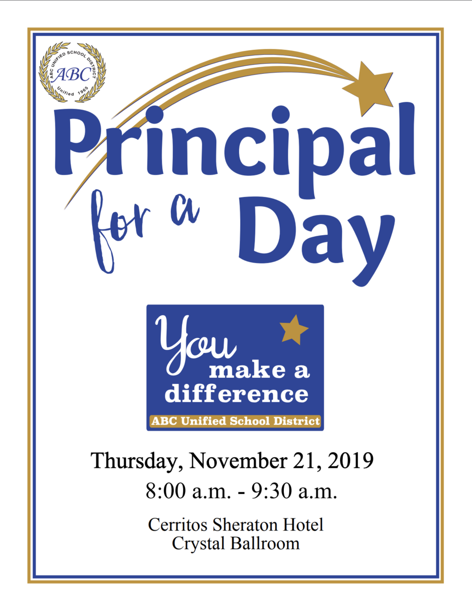 Principal for a Day Flyer 2019-20