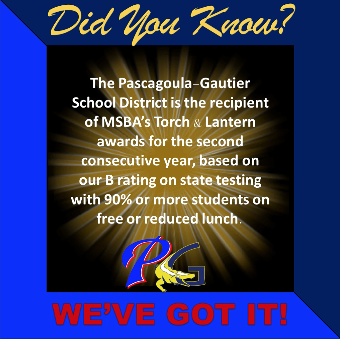 Did you know PGSD is the recipient of MSBA's Torch and Lantern awards for the second consecutive year