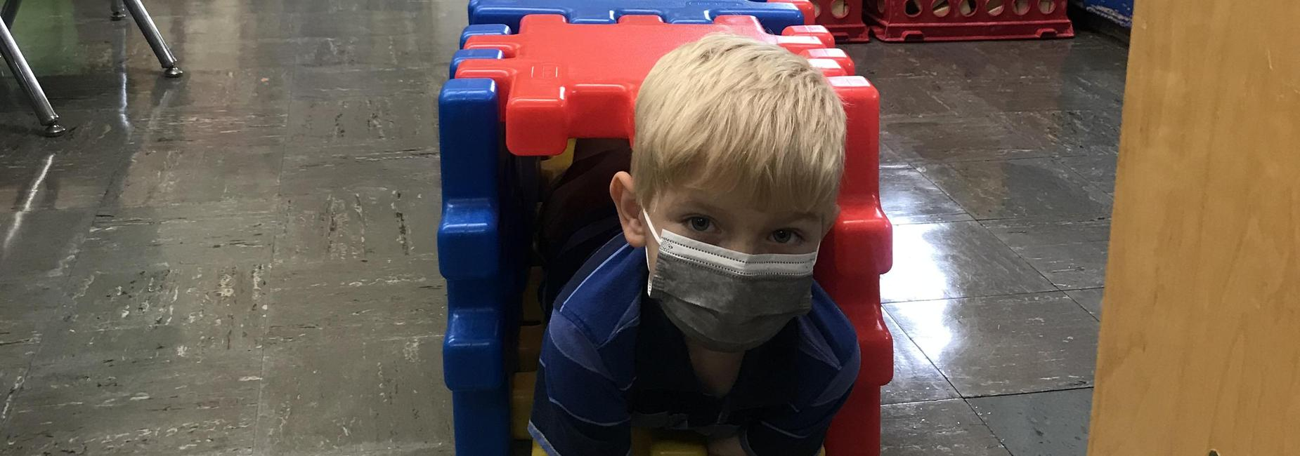 Sugar Grove Elementary Student built his own tunnel