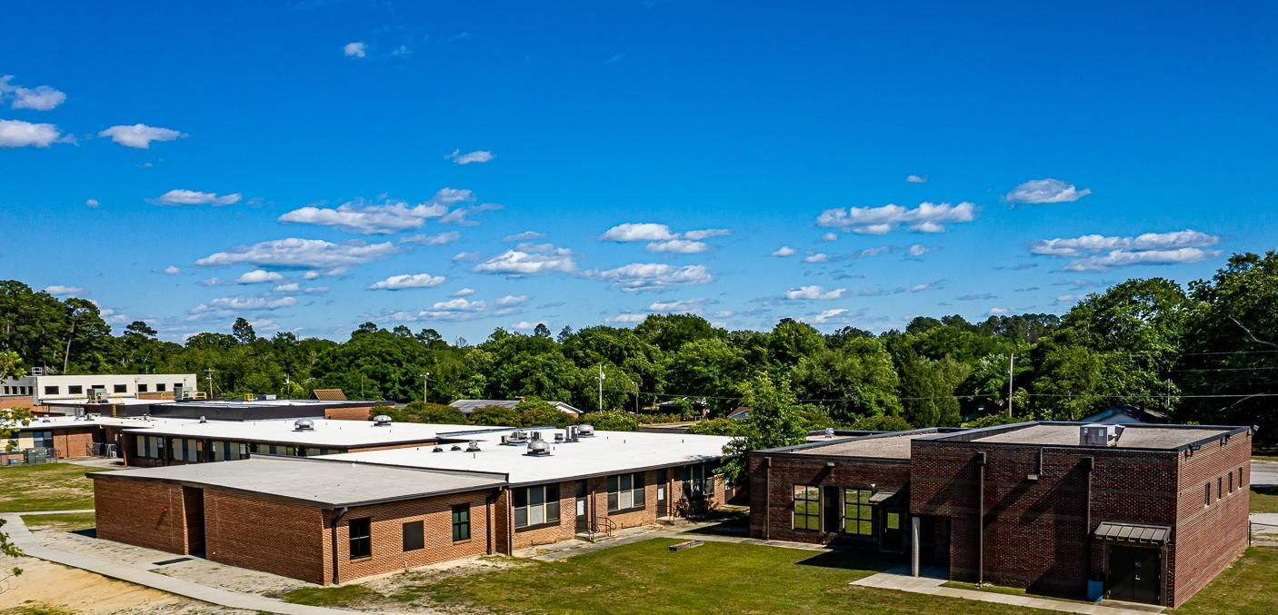 Photo of the outside of the 2 new classroom addition