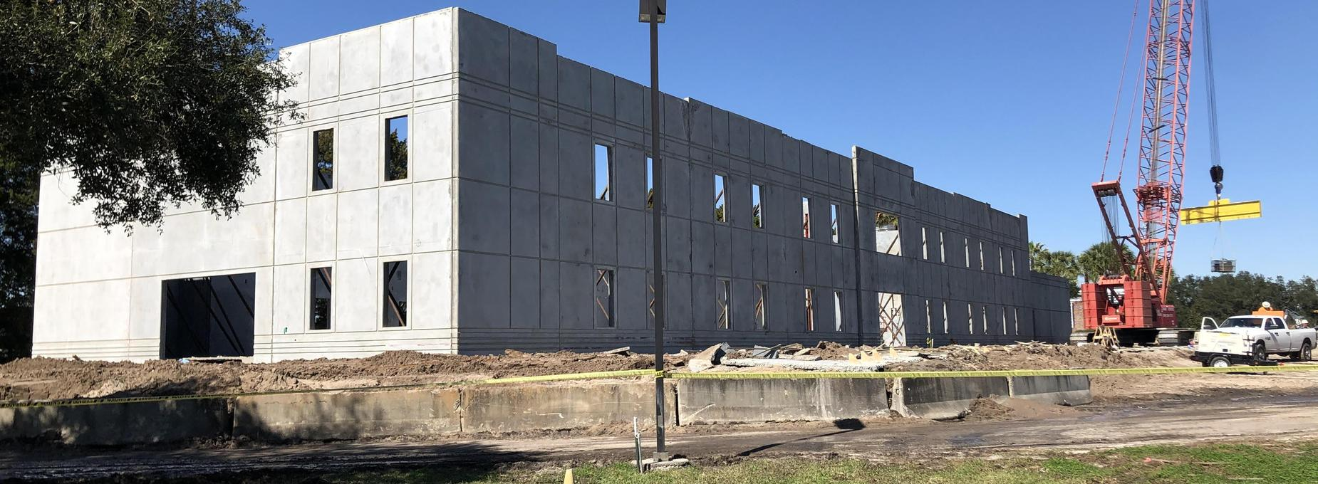 New 7th-12th Grade Center:  Wall are up!