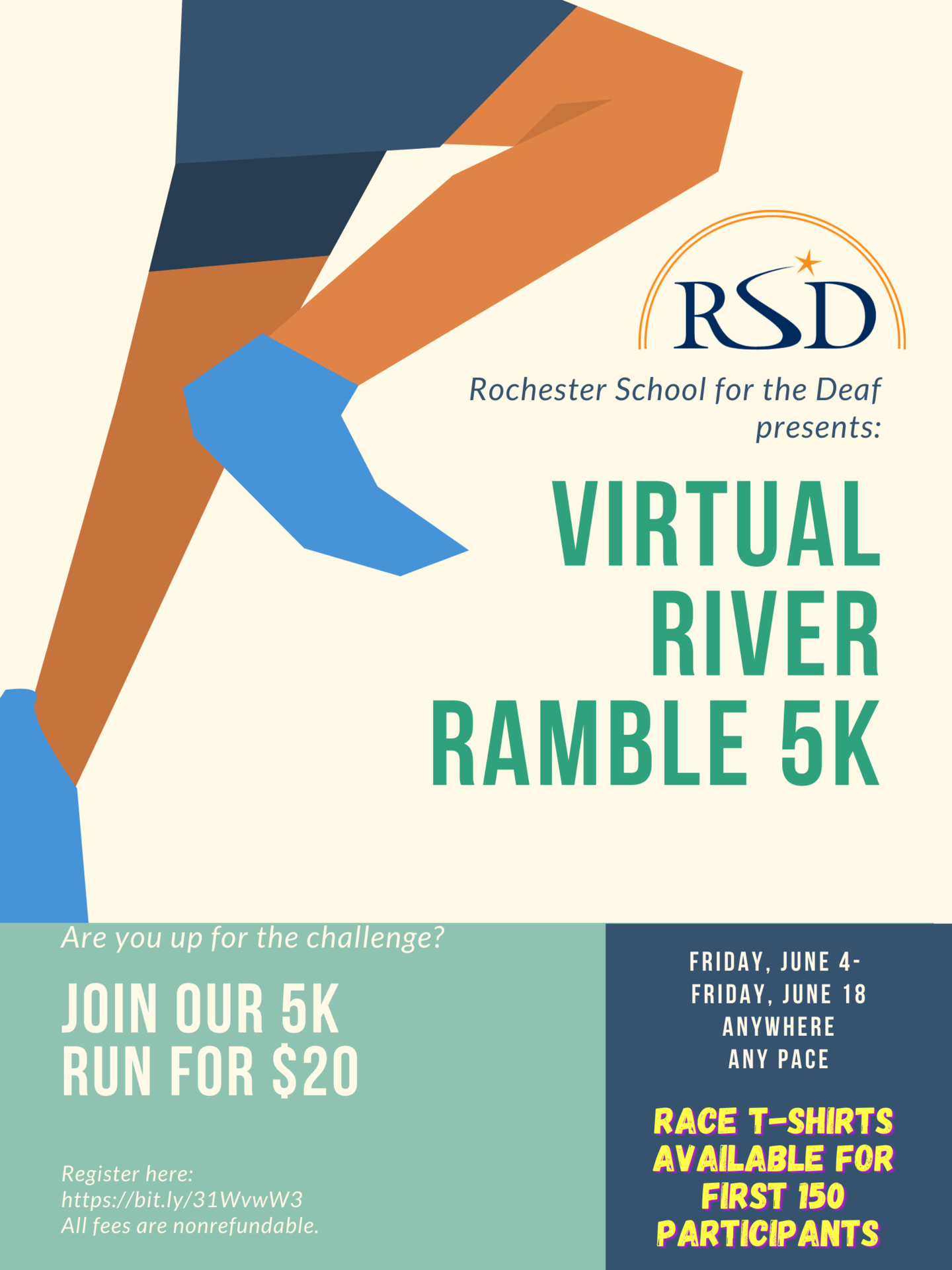 RSD Virtual River Ramble 2021 Poster