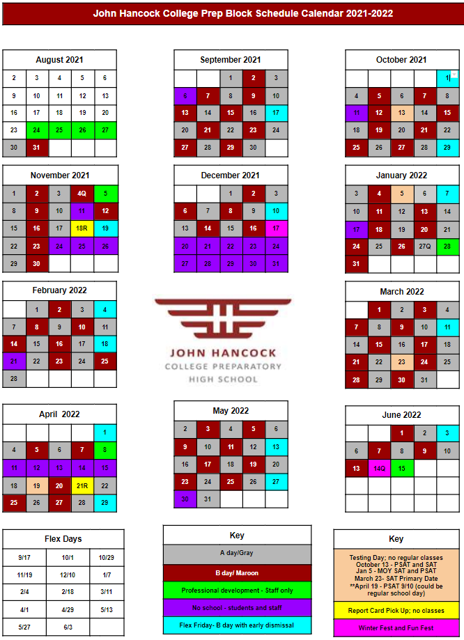 2021-2022 Hancock Calendar