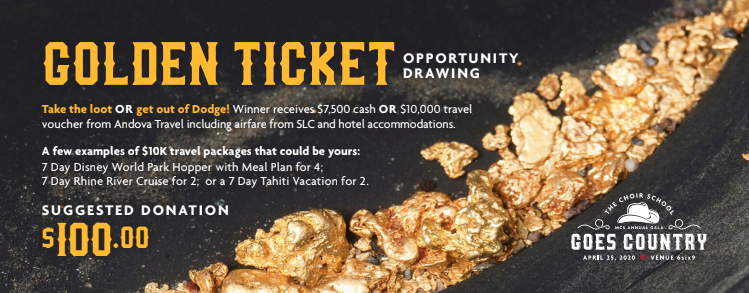MCS ANNUAL GALA GOLDEN TICKET OPPORTUNITY DRAWING