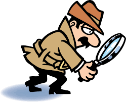 Detective looking for clues