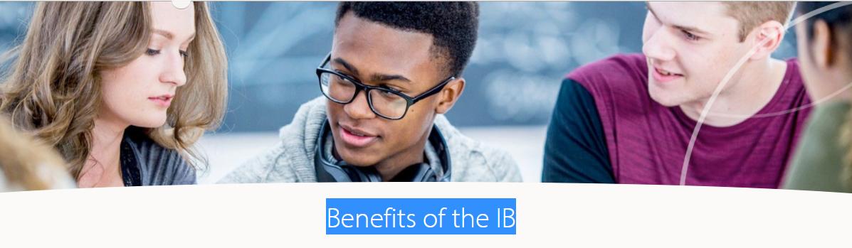 Benefits If the IB Programme