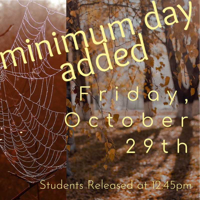 October 29 is Now a Minimum Day Featured Photo
