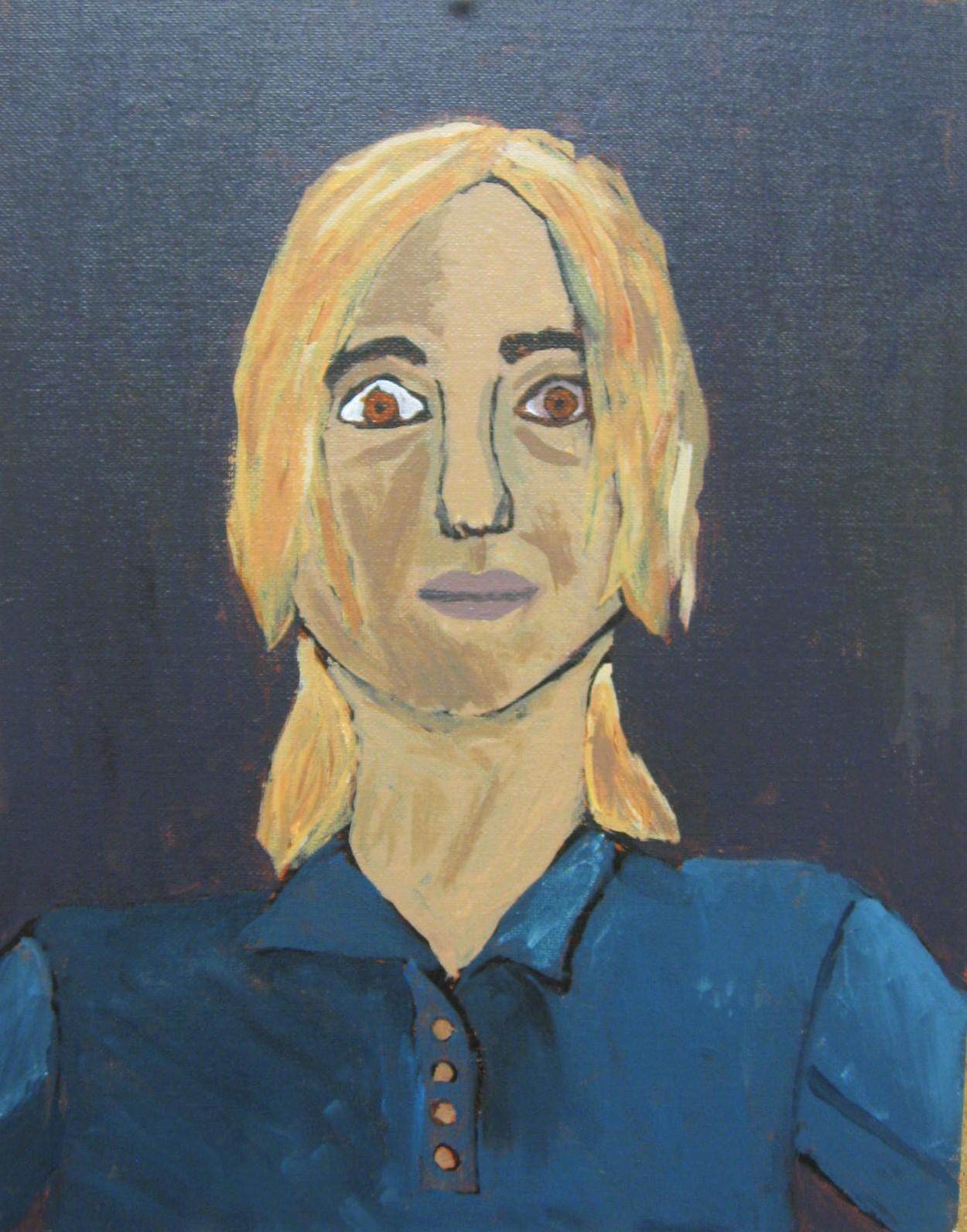 7th grade self portrait