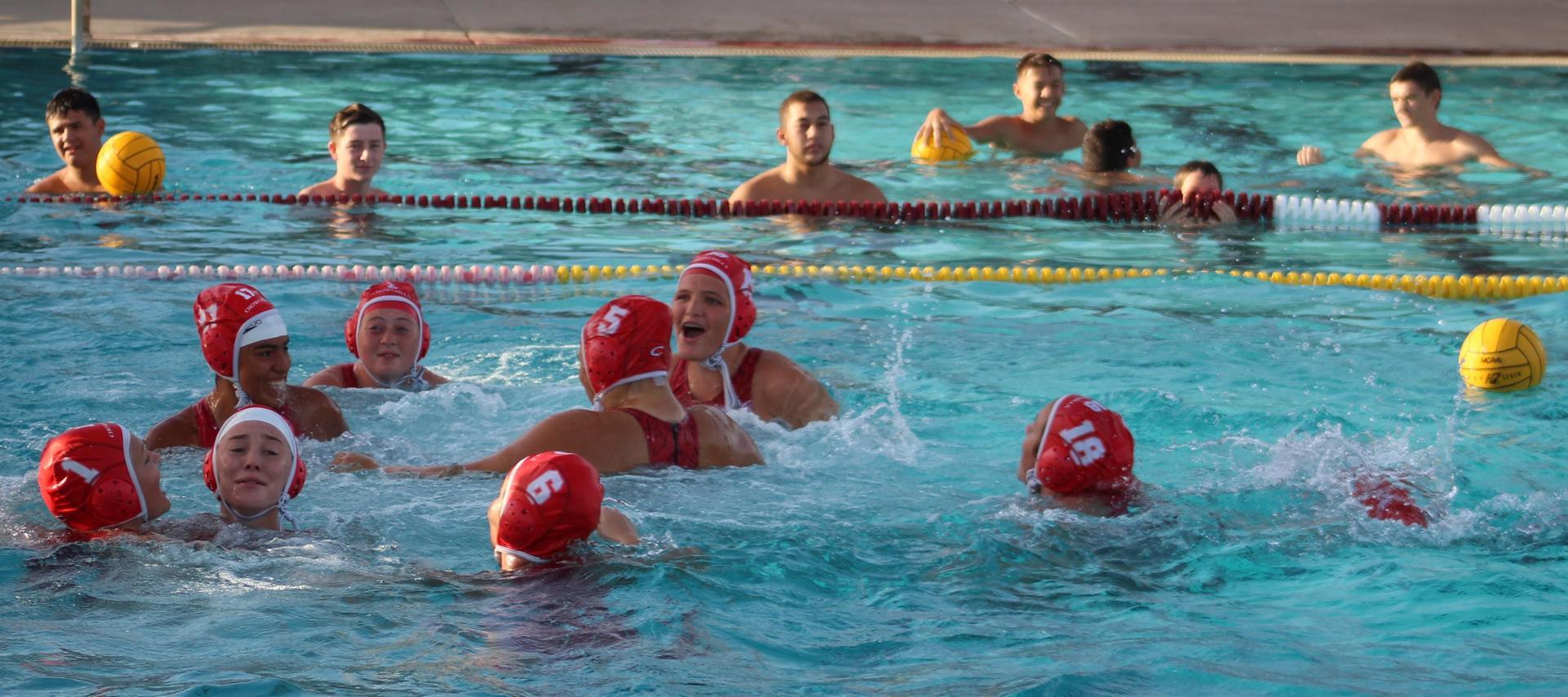 Girls water polo against sierra