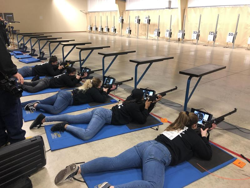 rifle team in prone position
