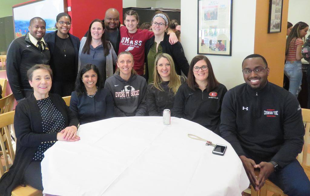 Group photo, coaches, educators, guests
