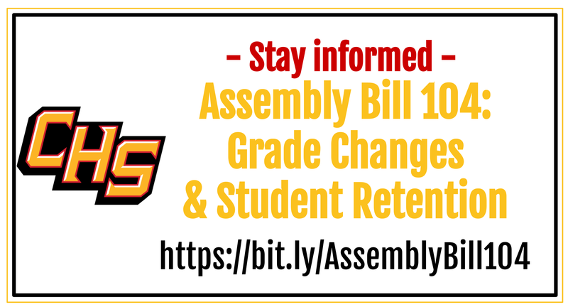 Stay informed - Assembly Bill 104:  Grade Changes  & Student Retention  https://bit.ly/AssemblyBill104
