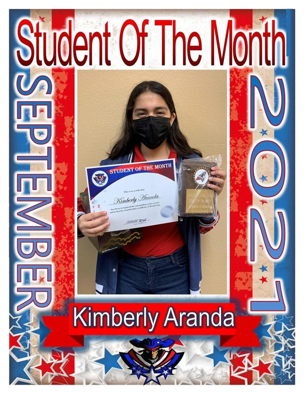 7th Grade student of the month