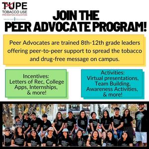 Flyer summarizing the information about the TUPE Program