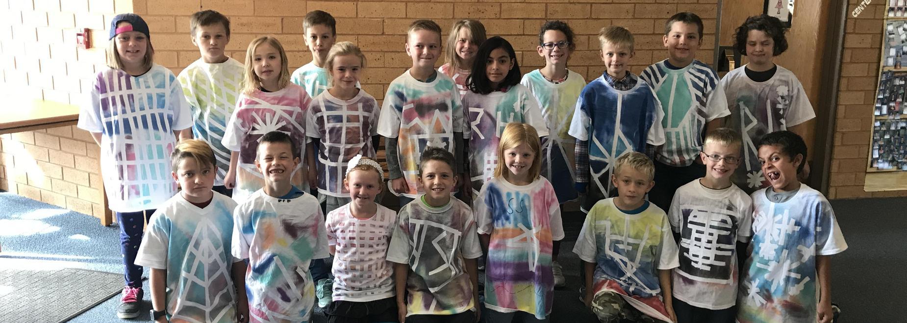 Mrs. Largent's class did graffiti art shirts as a class!