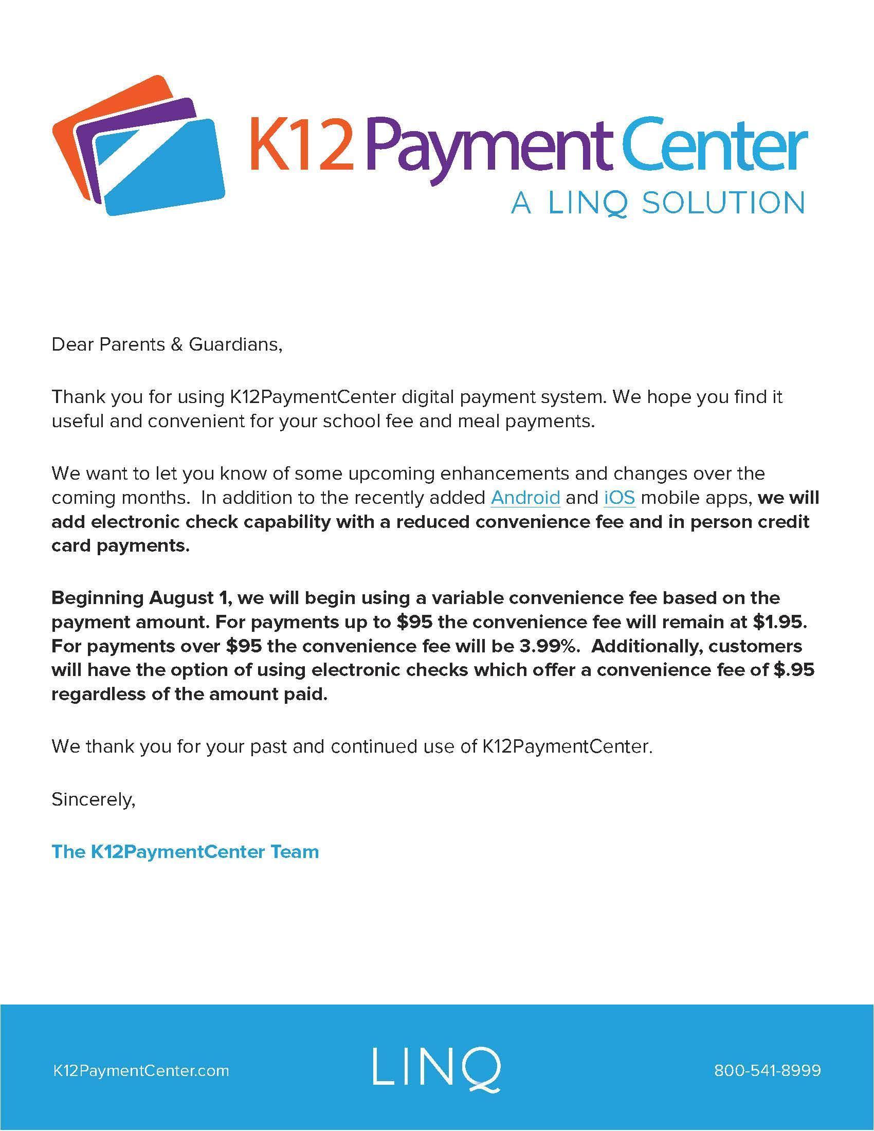 K12 pay info