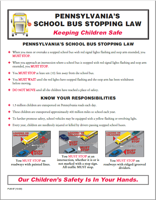 School Bus Stopping Law Picture