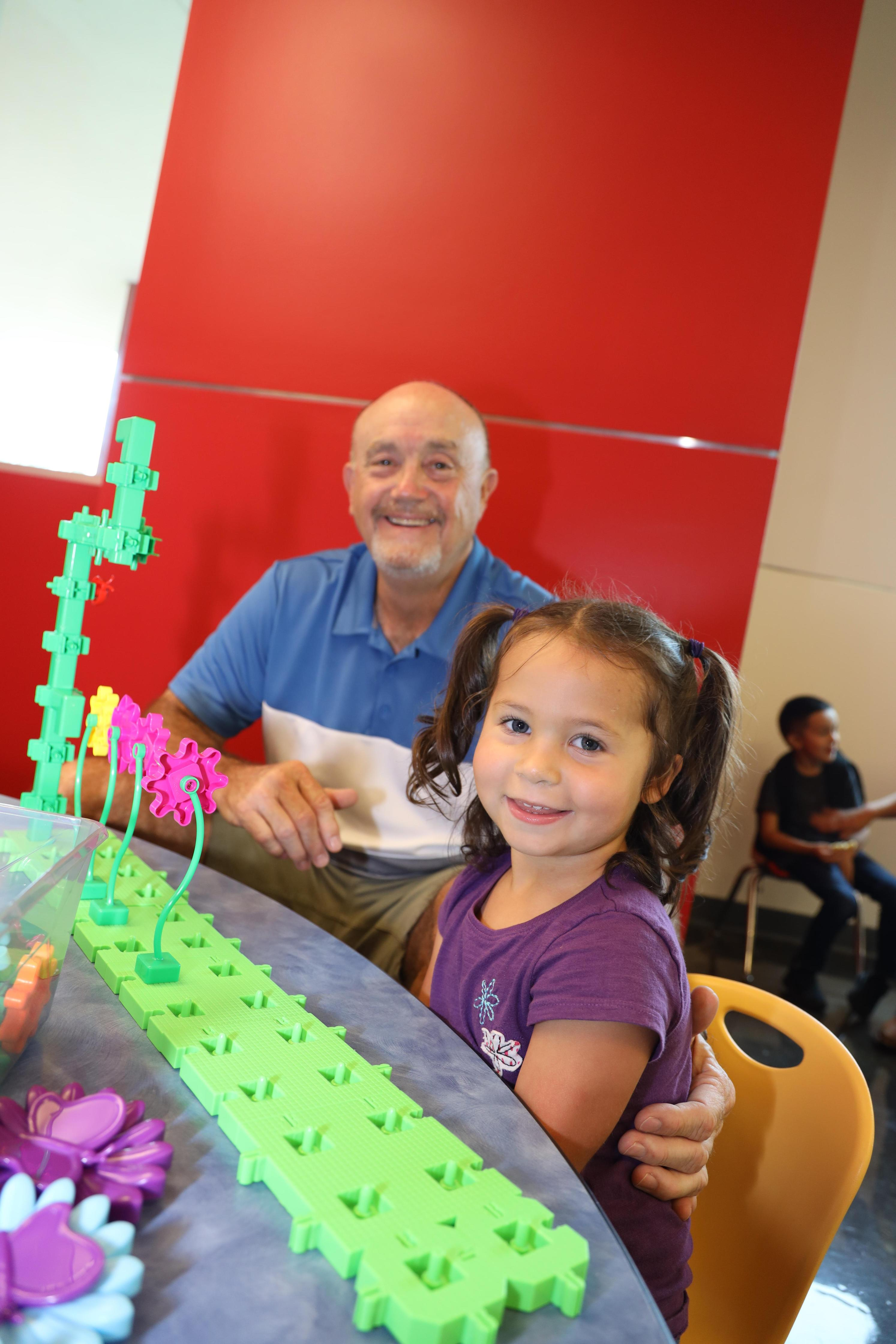 Students celebrate Grandparent's Day at the Early Childhood Center!