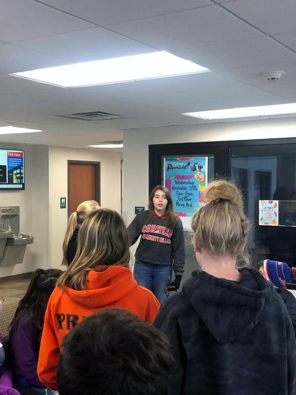 Students visiting the dorms.