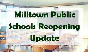 Milltown Public Schools Reopening Update Featured Photo